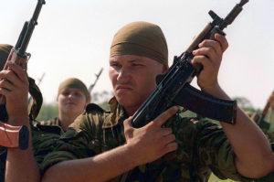 Americans training Ukrainian troops