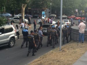Armenian Police Headquarters seized