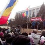 Moldova Parliament Protest 2016