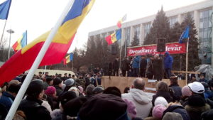Moldovan Parliament Protest January 2016