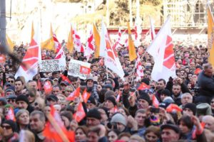 Thousands Protest In Georgia To Support Opposition TV Station