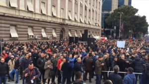 Albanian Opposition Protests Socialist Government