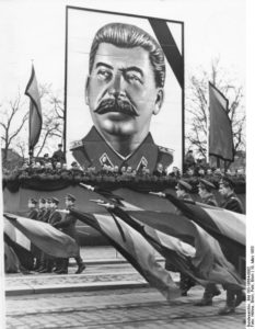 Russian child rights advocate has picture of Stalin hanging in his office