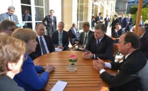Putin, Merkel, Hollande, Poroshenko Discuss Situation In Ukraine