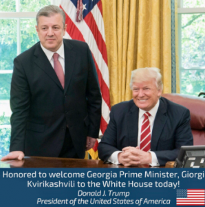 Prime Minister Of Georgia Meets President Trump