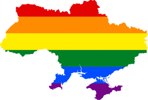 Ukrainian Protestors Scream Gay Propaganda In Kyiv Over Eurovision Rainbow