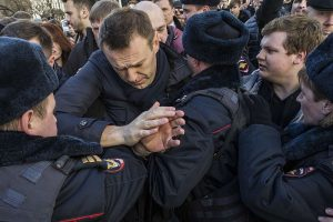 Anti-Corruption Rally In Moscow, Navalny Arrested Beforehand