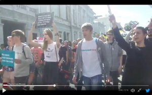 Russians Take To The Streets To Protest Internet Crackdown