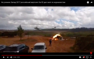 Video: Zapad Attack Helicopters Fire On Journalists, Two Seriously Injured