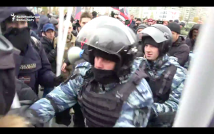 Video: Moscow Police Detain Dozens At Nationalist, Anti-Putin Rally