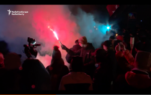 Video: Riot Police Clash With Protesters In Kyiv Tent City