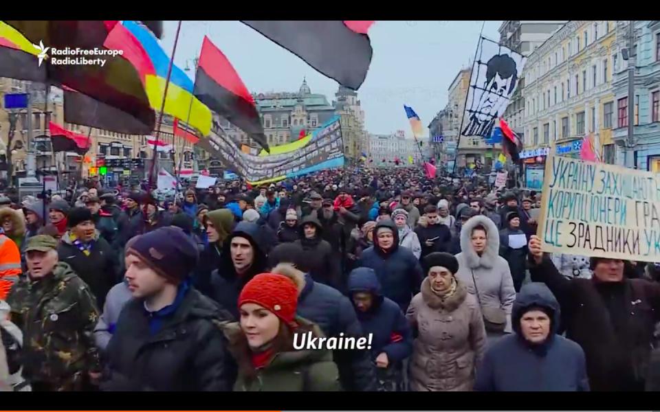 Saakashvili Supporters March In Kyiv For Poroshenko Resignation