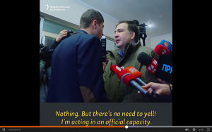 Video: Misha Spars With Ukrainian Prosecutor