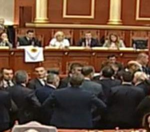 Temporary Head Of General Prosecutor's Office Elected In Albania Amidst Violence.  Stun Grenades Deployed In Parliament.