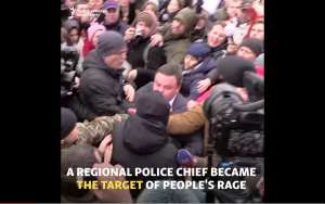 Video:  Fights Break Out In Kyiv At Demonstration Over Lawyer's Murder