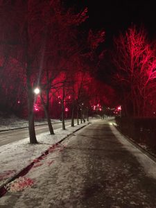 A Midnight Winter Walk Down The Moscow River