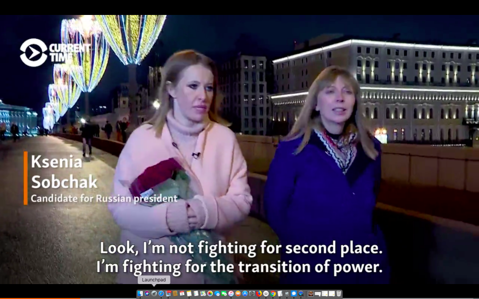Video: Sobchak Says She's In It To Win And Defeat Putin