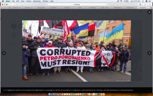 Thousands Of Saakashvili Supporters March Through Kyiv, Demand Impeachment