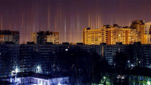 Images: Mysterious Pillars Of Light Cover St. Petersburg Night Sky