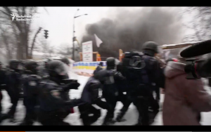 Video: Kyiv Police Tear Down Saakashvili Protest Camp, 20 Injured