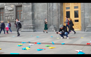 Watch Pussy Riot Member Get Arrested For Throwing Paper Airplanes In Protest Of Russia Blocking Telegram Message Service
