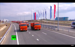 Video:  Putin Drives Truck In Crimean Bridge Opening Ceremony