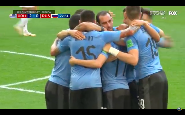 Uruguay Defeats World Cup Host Russia