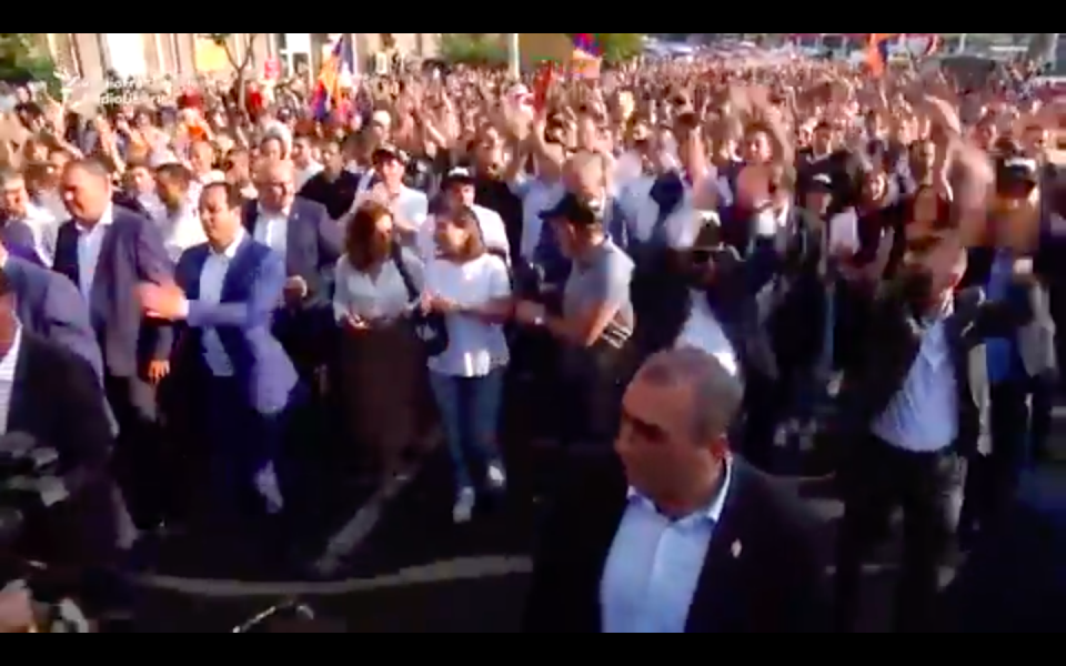Thousands Of Pashinian Supporters Rally In Yerevan