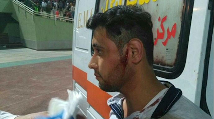 Iranian Security Attacks Protesters At Football Match