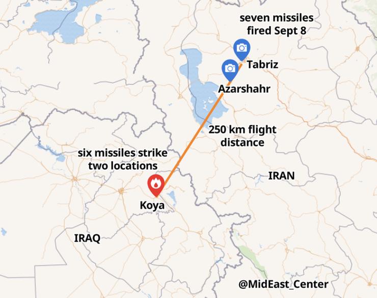 Showcasing The Fateh 110's Abilities: IRGC's Attack On Kurdish Groups In Koya