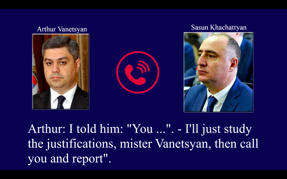 Wiretapping Of Armenia's Top Law-Enforcement Officials Condemned