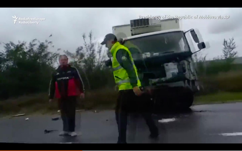 Dashcam Footage Of Moldovan President Auto Crash...Assassination Or Accident - You Decide