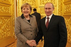 Merkel Puts Nord Stream II Over NATO Security In Scared-To-Death Lithuania