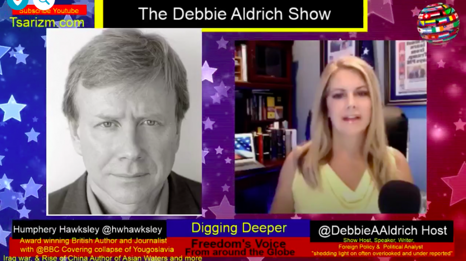 Award Winning Former BBC Correspondent Humphrey Hawksley Appears On Debbie Aldrich 'Digging Deeper' On Happenings In Pacific