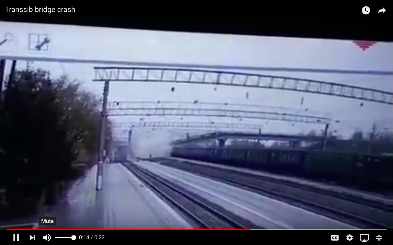 Video: Dramatic Moment As Siberian Bridge Collapses As Dump Truck Crosses