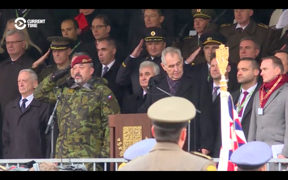 Video: Mad Dog Mattis Reviews Czech Troops In Centenary Parade