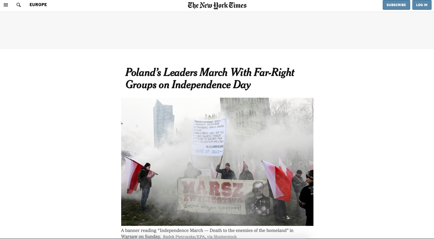 Globalist Media Tries To Tarnish Polish Independence Day March