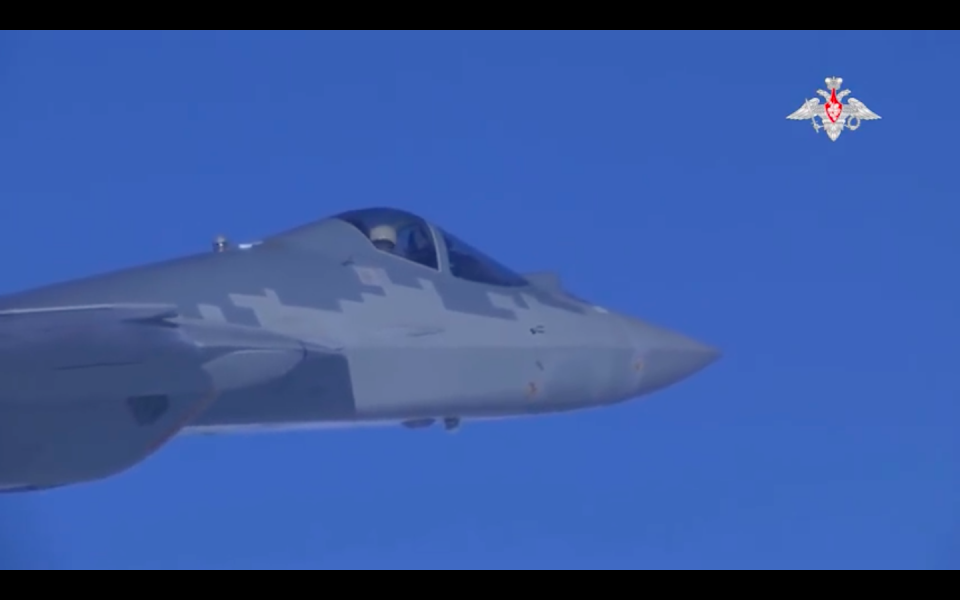 Russian Ministry Of Defense Releases Footage Of New Su-57 Stealth Fighter Being Tested In Syria