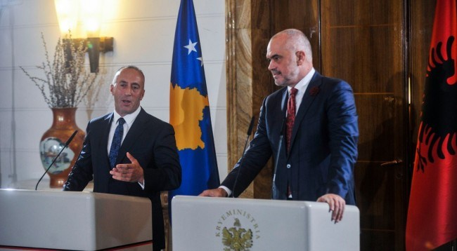 Albania PM Rama and Kosovar PM Haradinaj Announce Open Borders