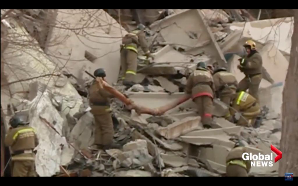 Russian Apartment Blast, Dozens Trapped Under Rubble