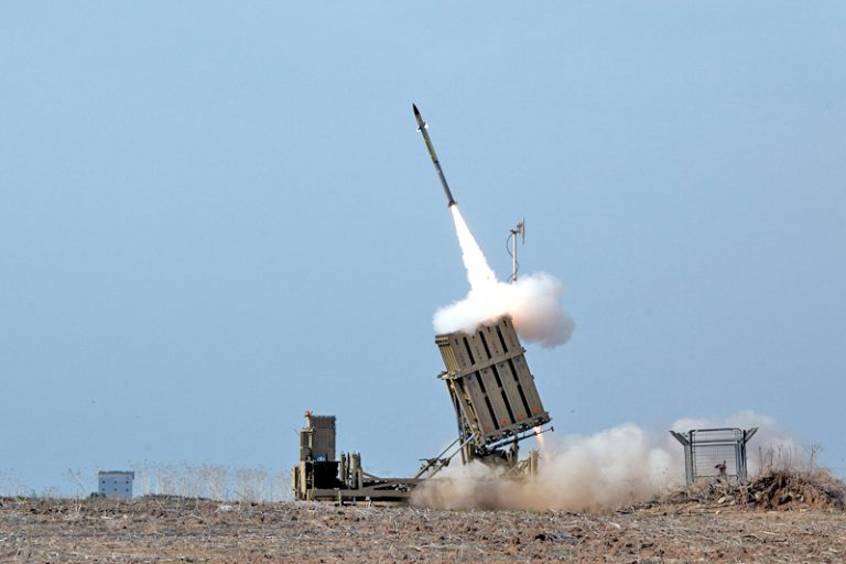 Iron Dome Intercepts Missiles In The Skies Above Mount Hermon In Northern Israel