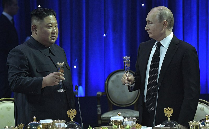 Putin Shows He's Best Buds With Kim Too