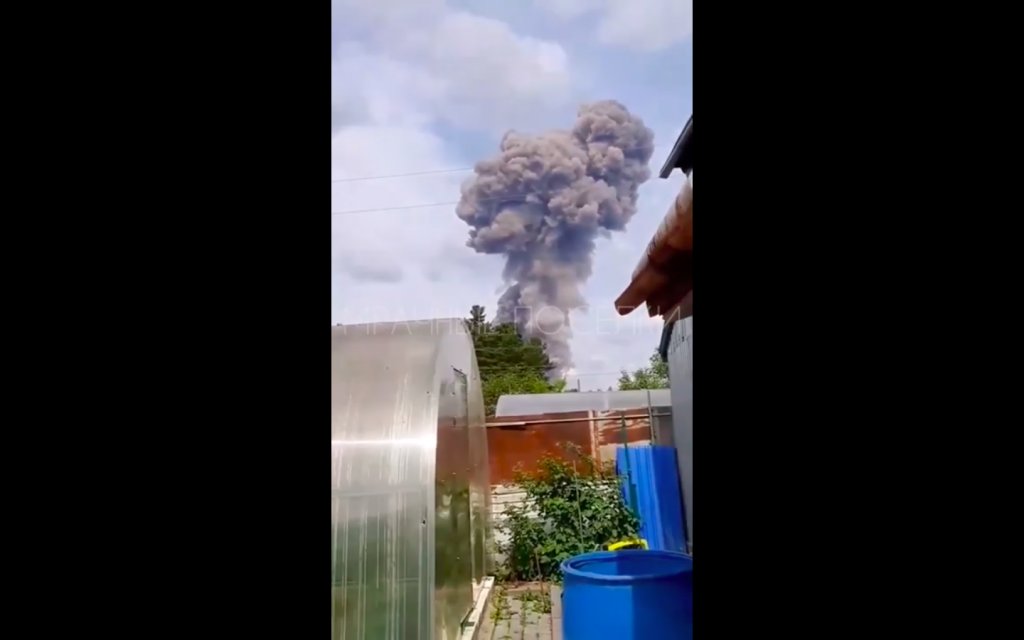 Video: Russian Munitions Plant Lights Off In Massive Explosion