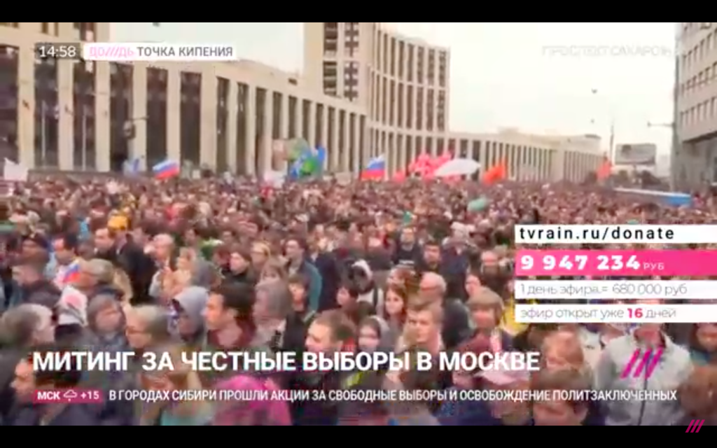Live Video: Massive Protests For Democracy In Moscow