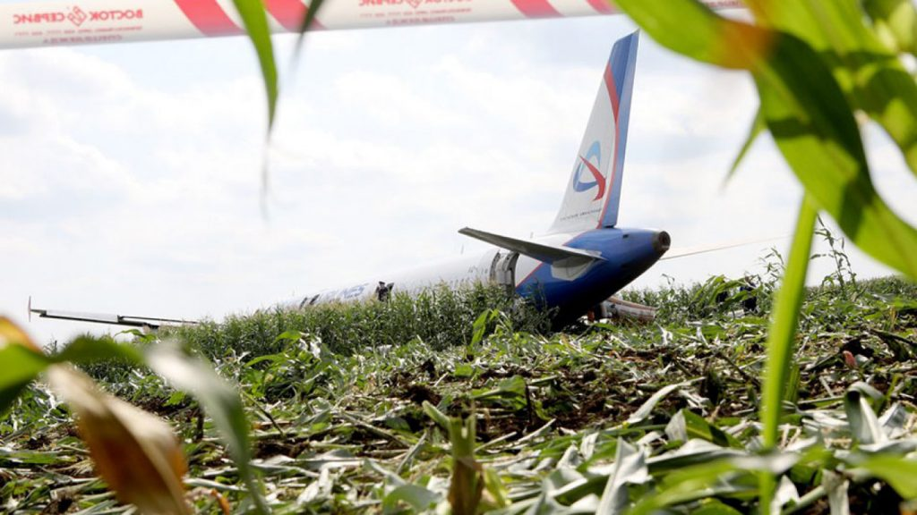 Russian Airliner Crash Lands In Cornfield, No Deaths
