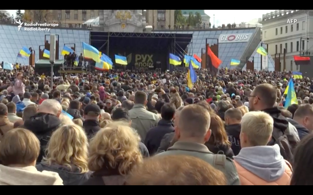 Thousands In Kyiv Protest President's Plan For Local Elections In Eastern Ukraine