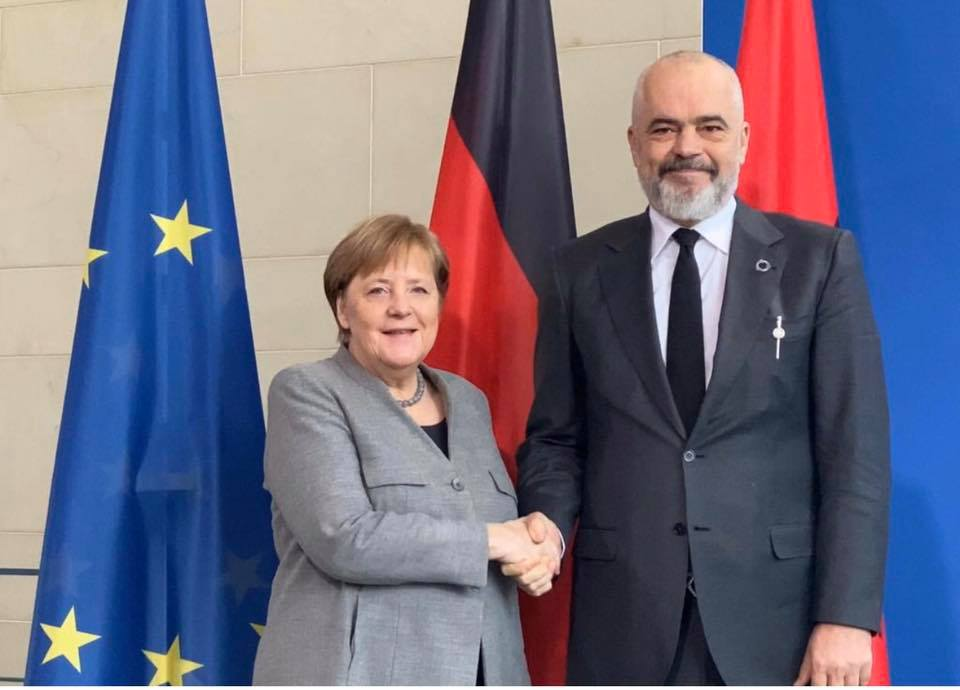 Merkel Tells Albania's Rama Germany Will Push For EU Accession Talks In March
