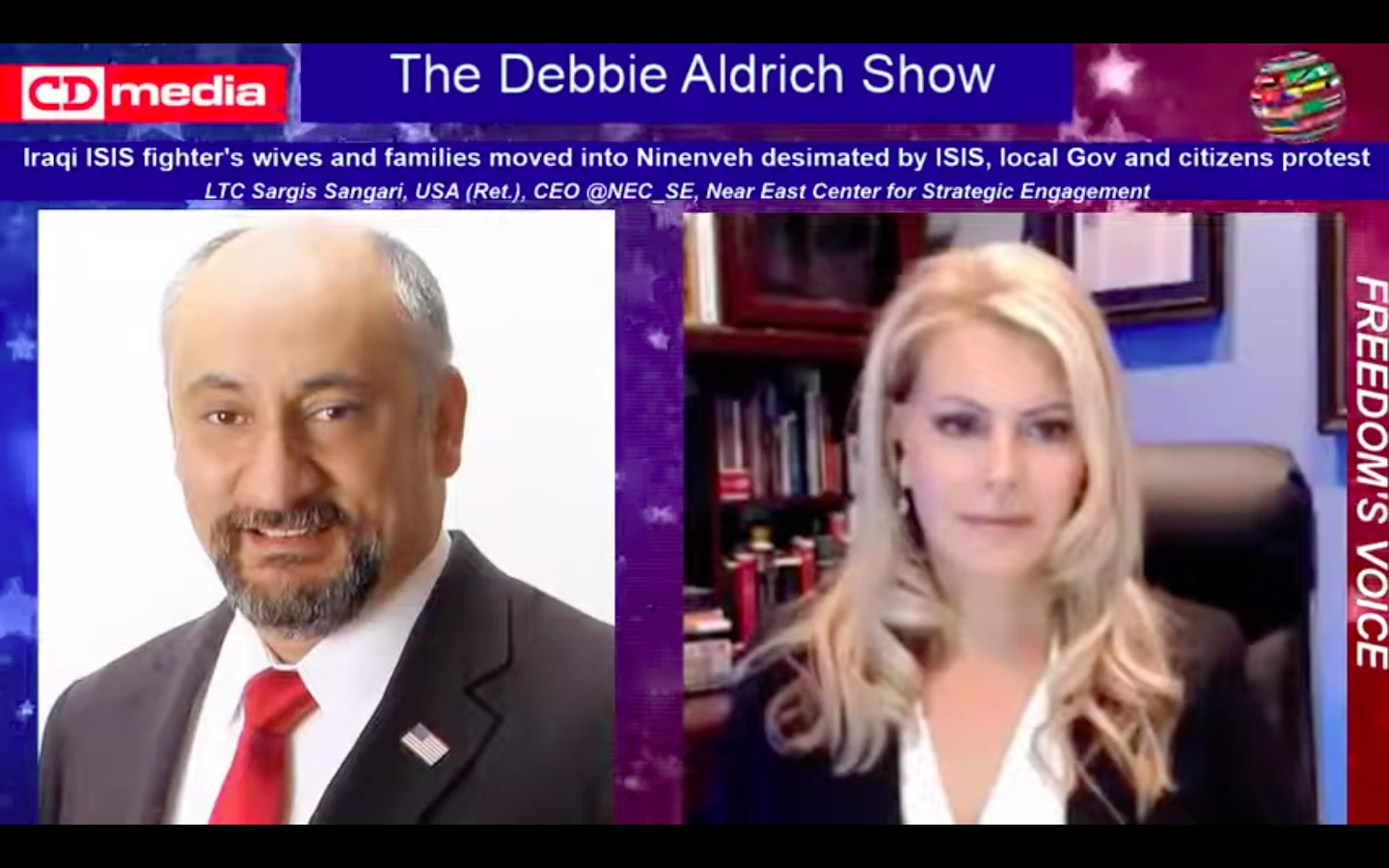 Debbie Aldrich Discusses The Plight Of The Assyrian People After Relocation Of ISIS Families...With LTC Sargis Sangari (Ret) - Tsarizm