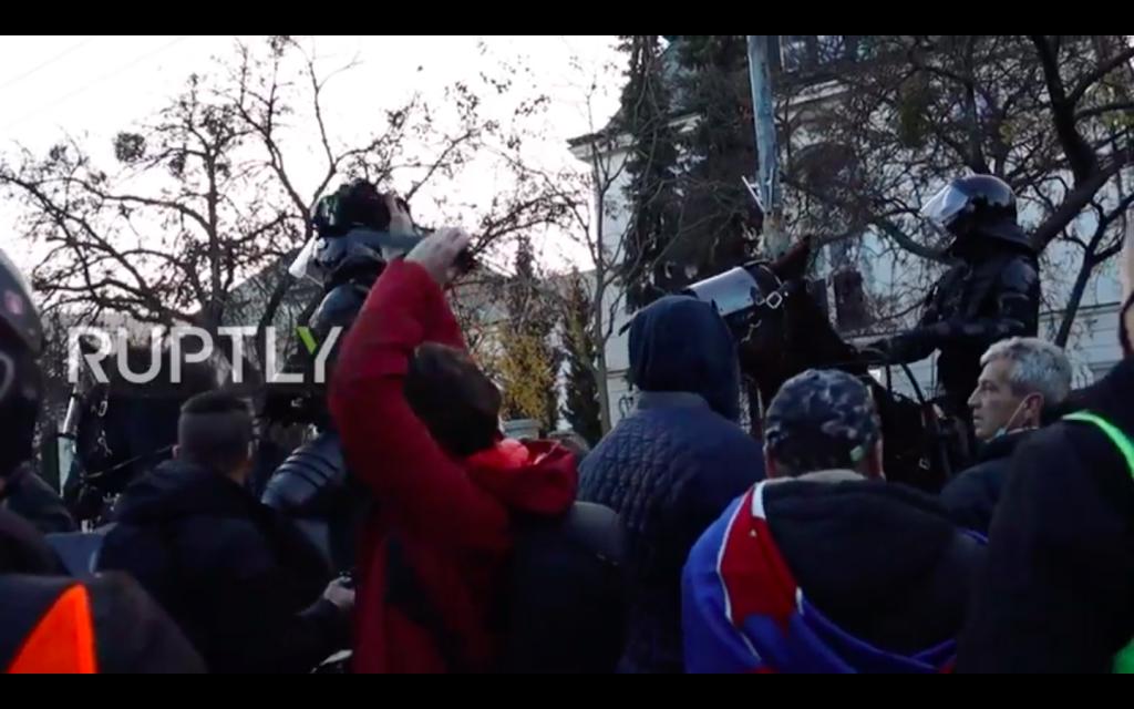 Slovakia: Thousands Protest COVID-19 Restrictions On 31st Anniversary Of Velvet Revolution