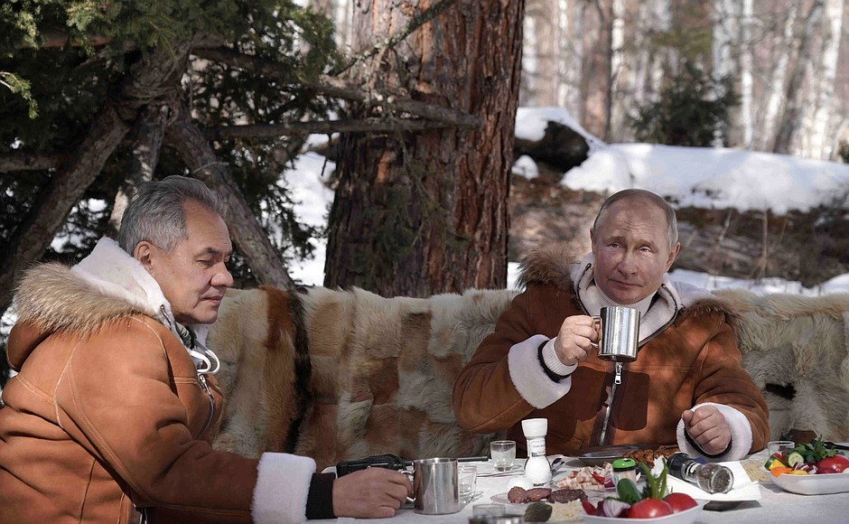 Putin Goes On Siberian Forest Escape To Highlight Biden's Physical Weakness
